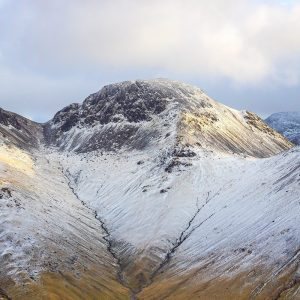 Snow in the valley (Great Gable)