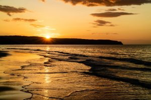 Sunset at Whitby