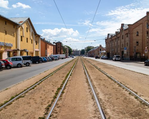 Tram lines Riga