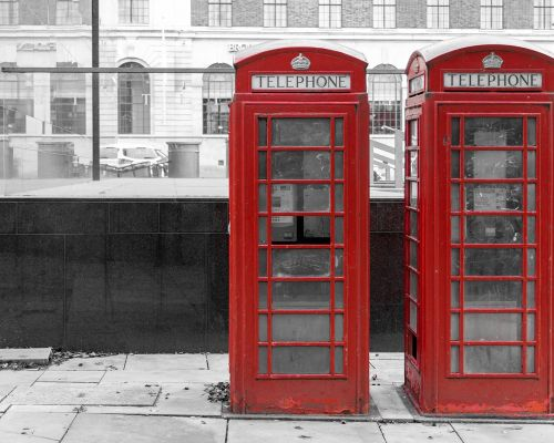 Two Red phone boxes