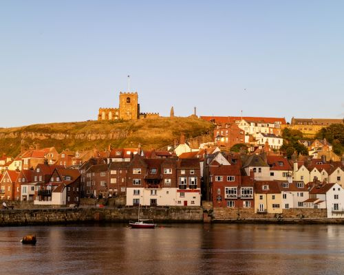 Evening sun on St. Mary's Church, Whitby