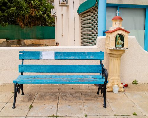 Bench and shrine