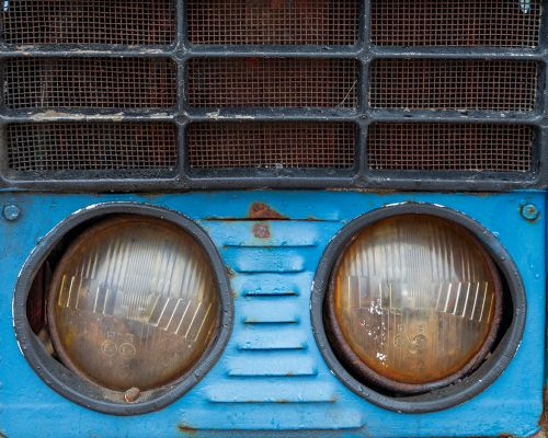 1979 Belarus Tractor Headlamps and grille