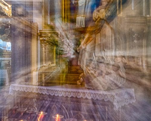 Altar and candles, Madeira (ICM)