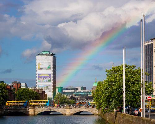 Rainbow over the Liffey