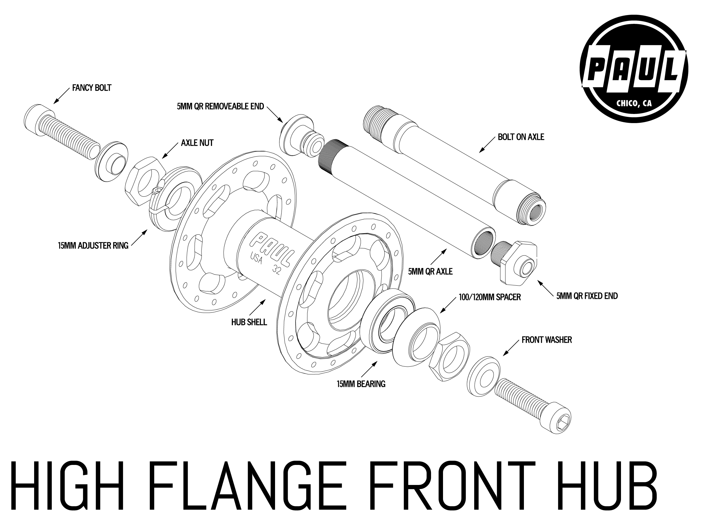 High Flange Front Paul Component Engineering
