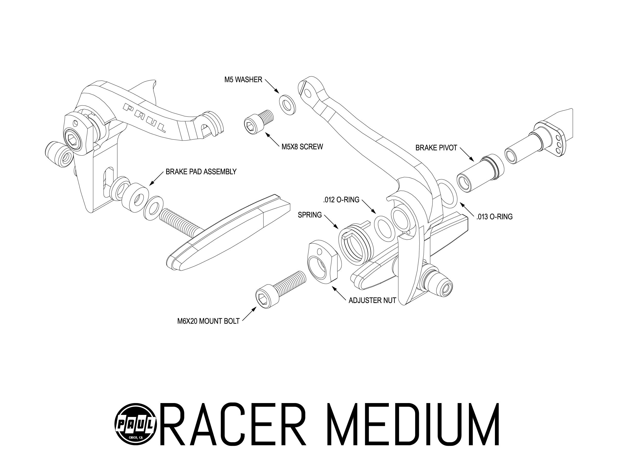 Racer Medium Paul Component Engineering