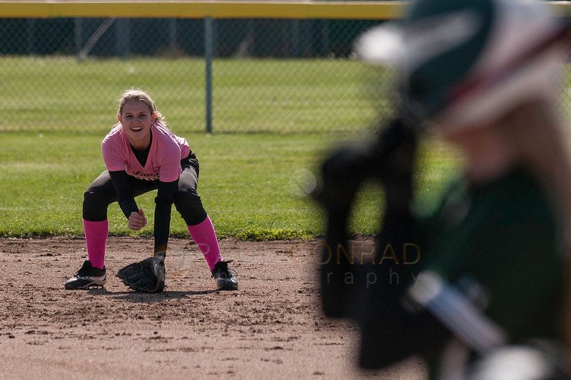 © Paul Conrad/Pablo Conrad Photography - The Meridian Lady Trojans host the Sehome Lady Mariners in fastpitch softball at Meridian High School on Wednesday afternoon May 6, 2014. The Lady Mariners won 15-5.