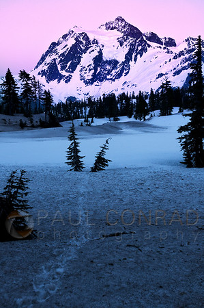 © Paul Conrad/Pablo Conrad Photography - Alpenglow on Mt. Shuksan in the Mount Baker/Snoqualmie Wilderness in northwest Washington east of Bellingham.