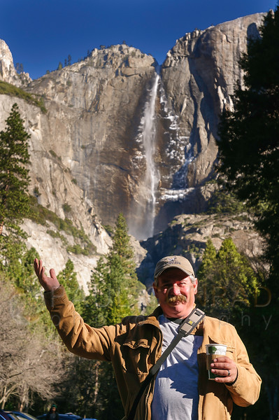 © Paul Conrad/Pablo Conrad Photography - Gary under Yosemite Falls in Yosemite Valley in Yosemite National Park, Calif., on Thursday Mar. 5, 2015.