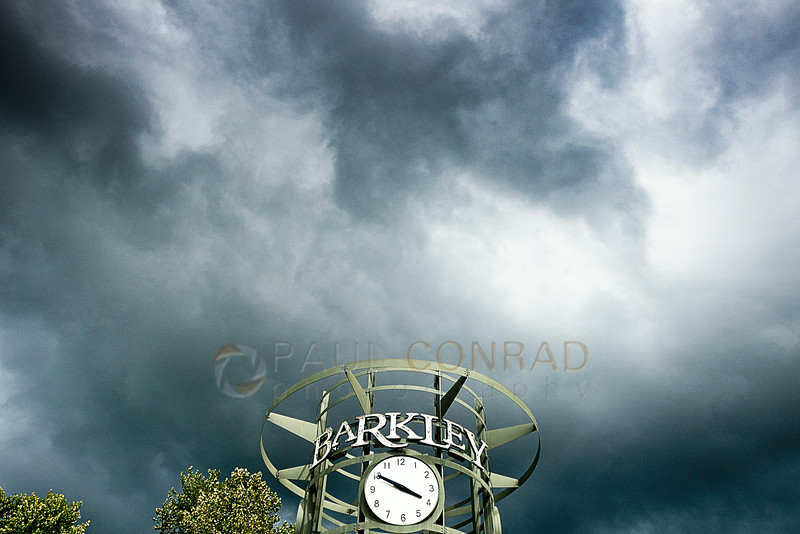 © Paul Conrad/Pablo Conrad Photography - Storm clouds form over Barkley Village on Saturday afternoon June 28, 2014, in Bellingham, Wash.
