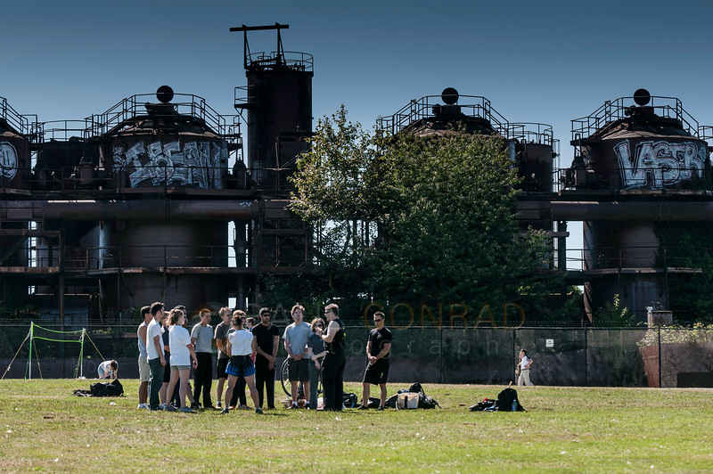 © Paul Conrad/Pablo Conrad Photography - The knife fighting seminar at Gasworks Park on the north side of Lake Union in Seattle, Wash.