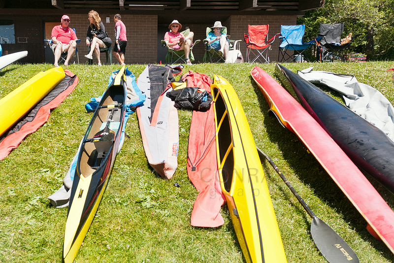 © Paul Conrad/The Bellingham Herald - Spectators watch the 2014 Bellingham Regatta hosted by the Bellingham Canoe & Kayak Sprint Team on Lake Padden on Saturday  morning June 14, 2014, in Bellingham, Wash.