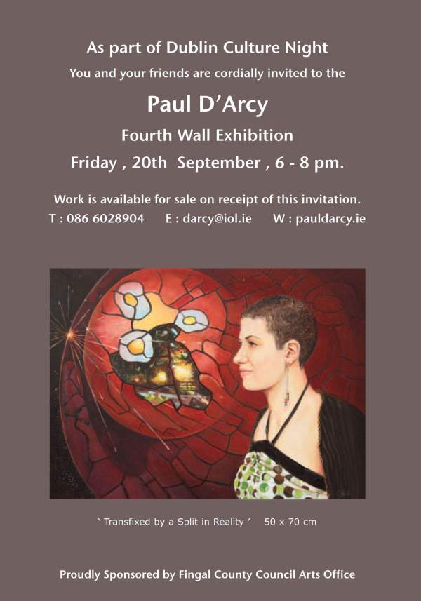 Fourth Wall Exhibition Invitation Paul 'arcy