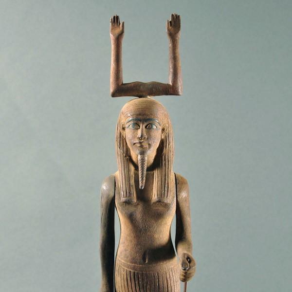 Egyptian Carved Wood Ka Statue De Grande Early Sculptures