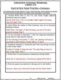 Printable Worksheets  Worksheets On Commas - Printable ...