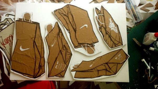 Nike Brown Paper Bag Drawings
