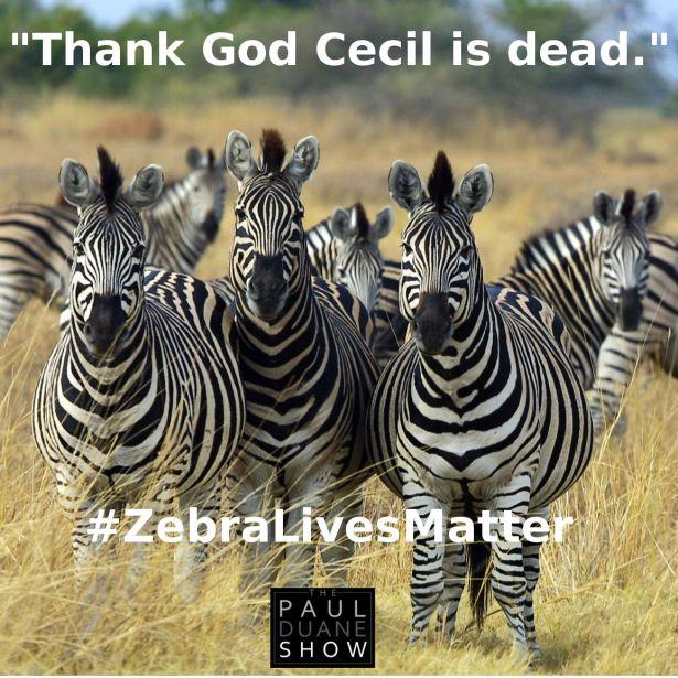 #zebralivesmatter Thank God Cecil is dead