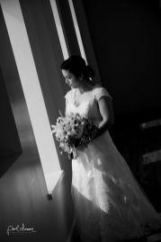 artistic black and white bridal portrait in salt lake city utah