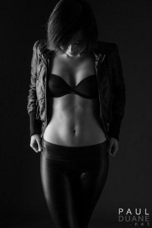 black and white modeling photo asian girl