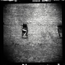 holga black and white film abstract street photography