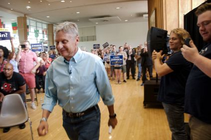 Gary Johnson Libertarian Presidential Rally in SLC Utah