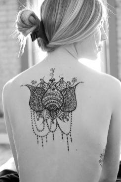 Kendra Sunderland, The Library Girl, nude photo henna art