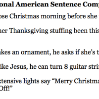 Seasonal American Sentences