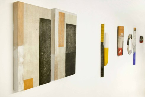 Five works from the Fjord series, viewed from side