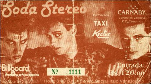 1987 - Soda Stereo en Valencia
