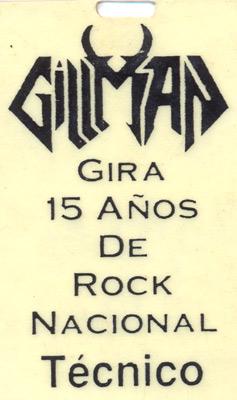 Carnet Gillman 15 años (1992)