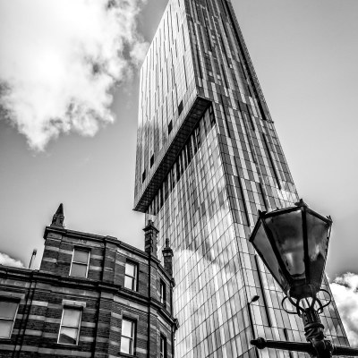 Beetham Tower, Manchester. Black & White Photographic Print. Manchester Landscapes Architecture