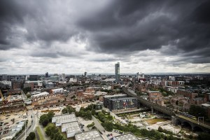Developing Manchester Urban Landscape Skyline Photograph Manchester Landscapes Beetham Tower