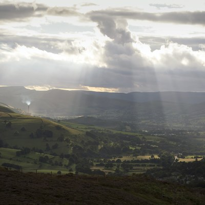 Hope Valley From Millstone Edge, Colour Photography Peak District Landscapes Clouds