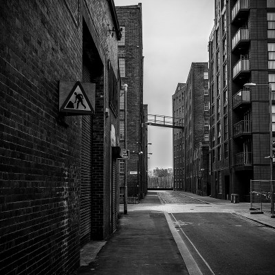 Crossroads, Manchester Urban Black and White photograph Manchester Landscapes Architecture