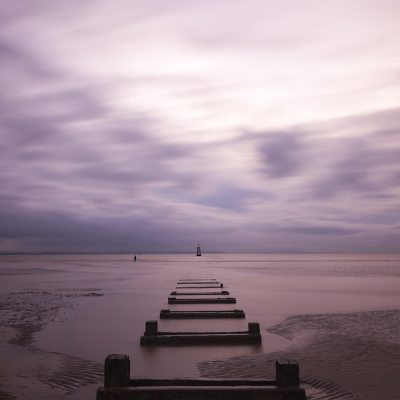 Fine art photographic print of The Jetty, Crosby Coastal Landscapes 'Another Place'