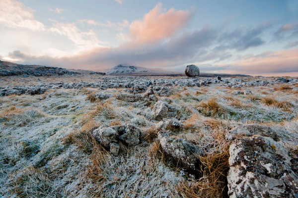The Lonely Mountain, Ingleborough, Winter Yorkshire Landscapes colour