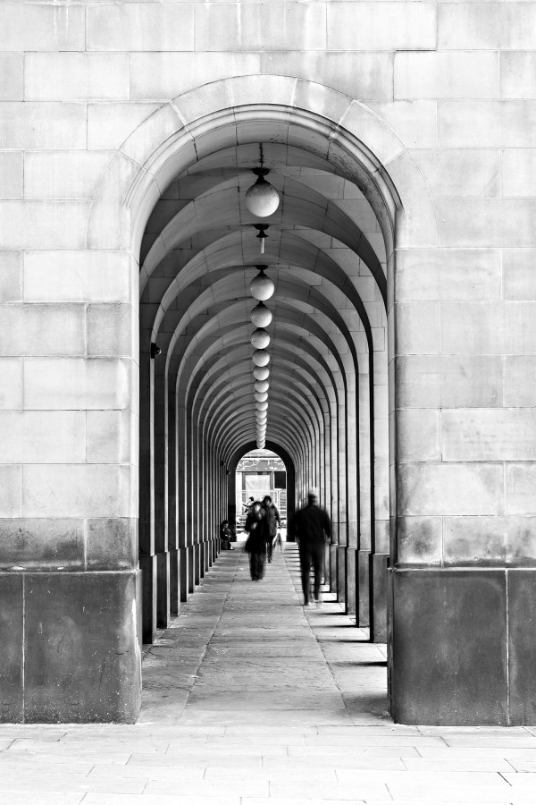 Town Hall Archways Manchester Urban Black and White Landscape Manchester Landscapes Architecture