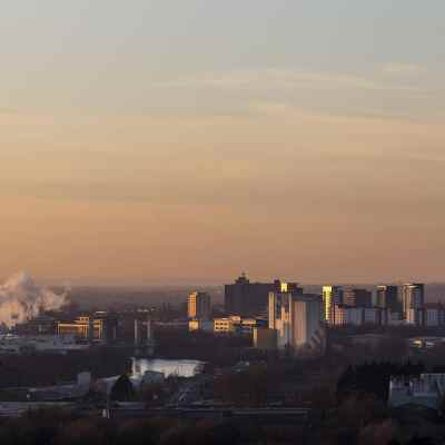 Trafford Park Industry, Manchester Skyline Manchester Landscapes Architecture
