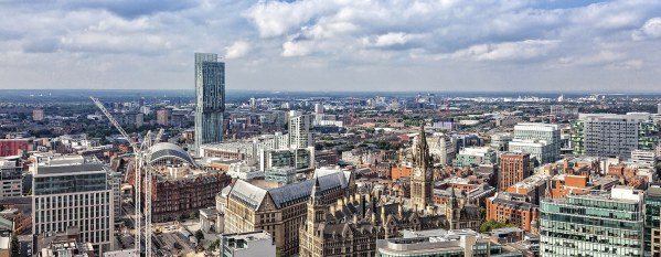 Manchester Skyline Panoramic Canvas Print Panoramic Landscapes Canvas