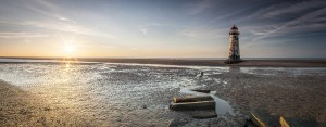 Point of Ayr Lighthouse Panoramic Canvas Panoramic Landscapes Beachfront
