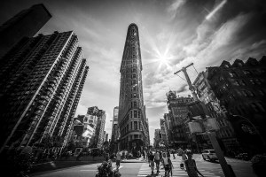 The Flatiron Building New York Black and white landscape New York Landscapes Architecture
