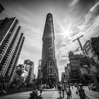 The Flatiron Building New York – Black and White landscape New York Landscapes Architecture
