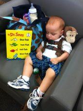 Daniel catches some Zzz's at the bookstore.