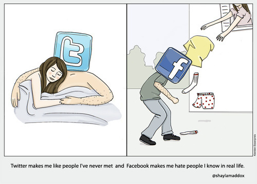 The TRUE difference between Facebook and Twitter (Funny)