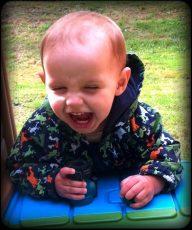 Daniel's favorite game: Laugh, Run and Scream!