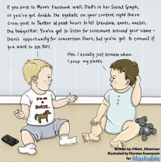 Funny! The Future of Social Media Parenting (cartoon)