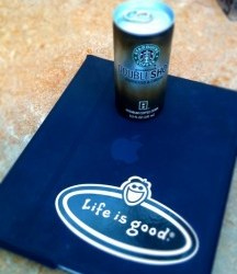 Life is good… My two survival tools this week – the iPad and Doubleshots!