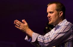 Pastor Corey Baker delivers a sermon Dec. 5 at First Assembly West in Cape Coral, Fla.