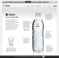 Funny Ad: If Apple Made Bottled Water